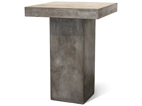 Seasonal Living Perpetual Slate Gray Concrete Provence 32''Wde Square Bar Table SEA501FT023P2G