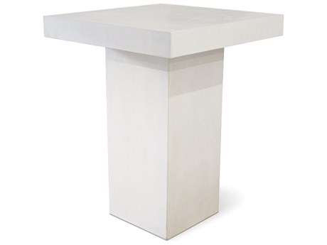 Seasonal Living Perpetual Ivory White Concrete Provence 32''Wde Square Bar Table SEA501FT023P2W