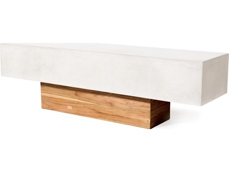 Seasonal Living Perpetual Ivory White Concrete Kochi Bench