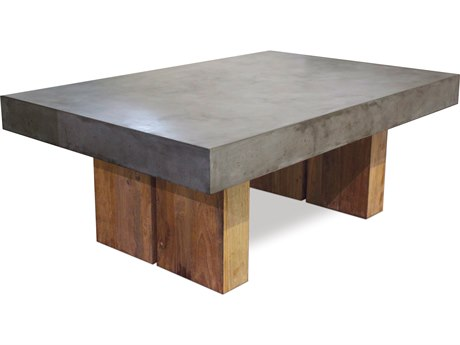 Seasonal Living Perpetual Skate Gray Concrete Samos 48''W x 32''D Rectangular Coffee Table SEA501FT042P2G