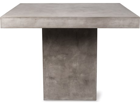 Seasonal Living Perpetual Slate Gray Concrete Phil 48''W x 36''D Rectangular Counter Table SEA501FT046P2G