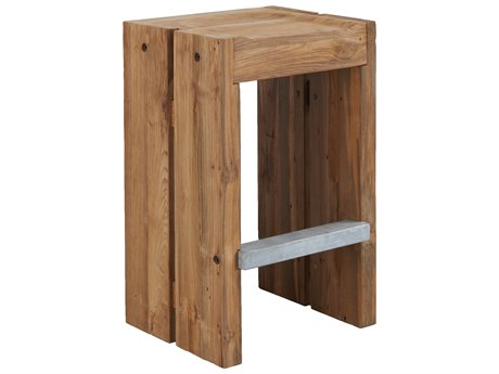 Seasonal Living Perpetual Reclaimed Teak Solo Bar Stool (Price Includes 2)