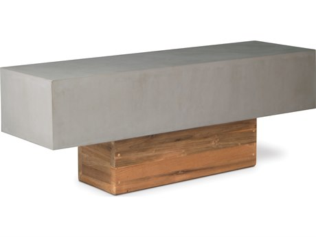 Seasonal Living Perpetual Slate Gray Concrete Urban Bench