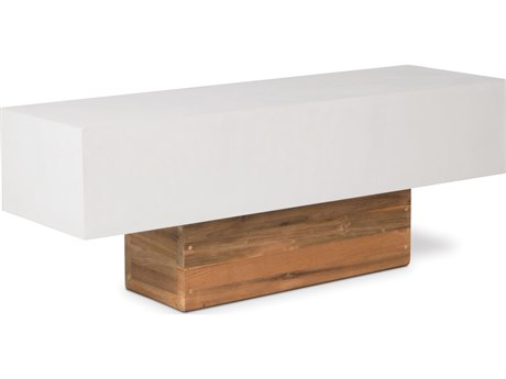 Seasonal Living Perpetual Ivory White Concrete Urban Bench