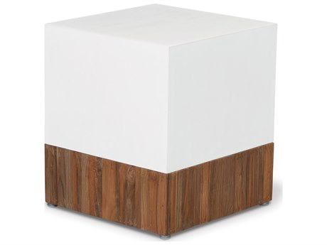 Seasonal Living Perpetual Ivory White Concrete Magic Cube