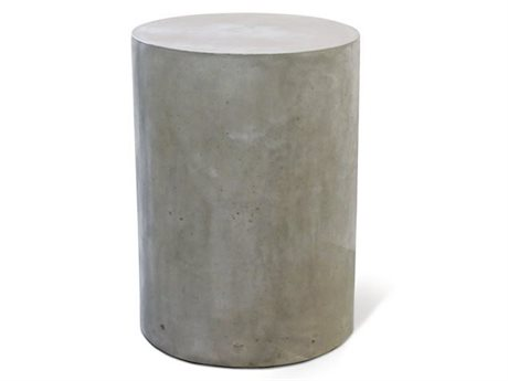 Seasonal Living Perpetual Slate Gray Concrete Ben 15'' Wide Round Accent Table SEA501FT127P2G