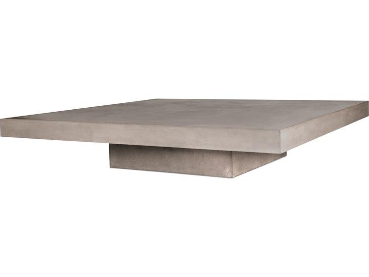 Seasonal Living Perpetual Gray Concrete Lima 57 Wide Square Coffee Table
