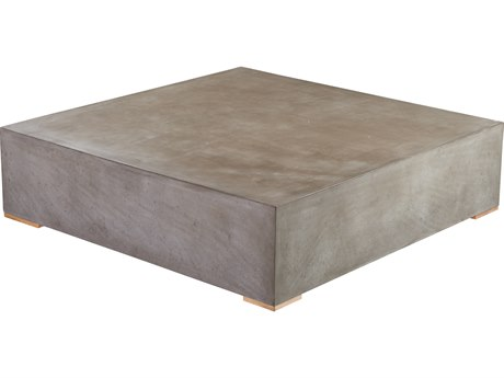 Seasonal Living Perpetual Millenia Gray Concrete 39.5'' Wide Square Center Table