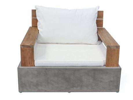 Seasonal Living Perpetual Millenia Gray Concrete Lounge Chair