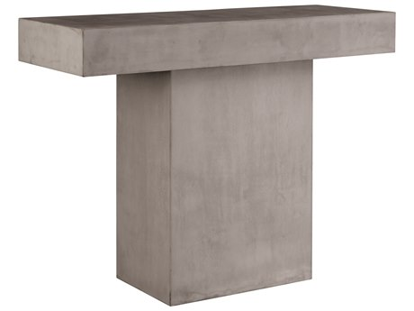 Seasonal Living Perpetual Slate Grey Concrete Banda 49''W x 15''D Rectangular Console Table SEA501FT166P2G