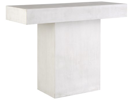 Seasonal Living Perpetual Ivory Concrete Banda 49''W x 15''D Rectangular Console Table SEA501FT166P2W