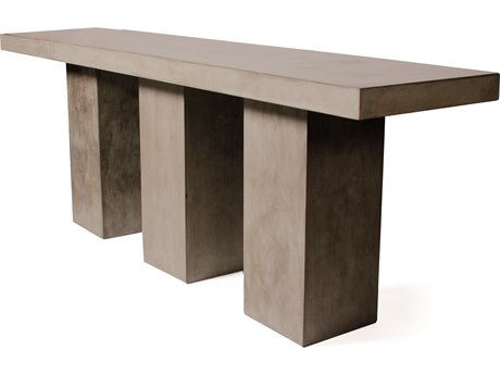 Seasonal Living Perpetual Slate Gray Concrete Super Kos 119''W x 31.5''D Rectangular Bar Table SEA501FT179P2G