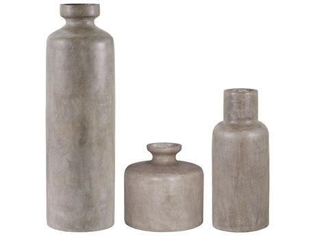 Seasonal Living Perpetual Slate Gray Concrete Vase Set (Price Includes 3) SEA501GU024P2GG