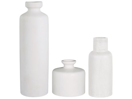 Seasonal Living Perpetual Ivory White Concrete Vase Set (Price Includes 3) SEA501GU024P2WG