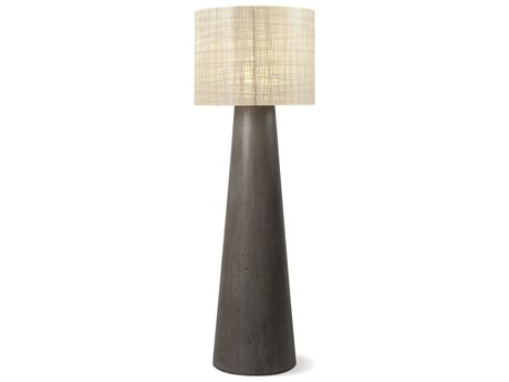 Seasonal Living Inda Cordless Outdoor Concrete Slate Grey Led Floor Lamp