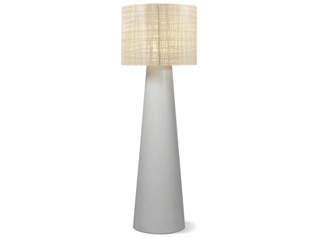 Seasonal Living Inda Cordless Outdoor Concrete Ebony White Led Floor Lamp
