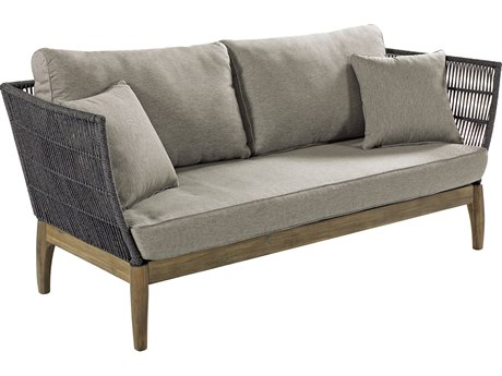 Seasonal Living Explorer Mixed Gray Acacia Wood Wings Sofa