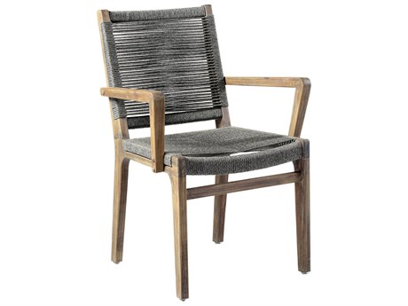 Seasonal Living Explorer Mixed Gray Acacia Wood Oceans Dining Armchair Set of Two (Price Includes 2)