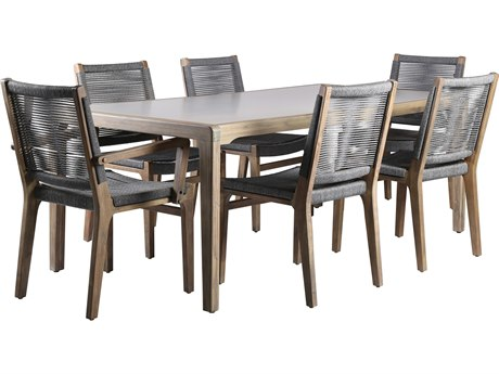 Seasonal Living Explorer Acacia Wood Oceans Dining Group Set