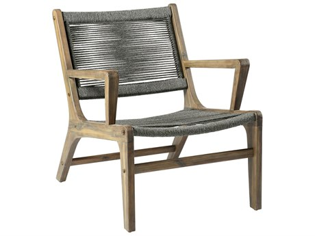 Seasonal Living Explorer Mixed Gray Acacia Wood Oceans Lounge Chair