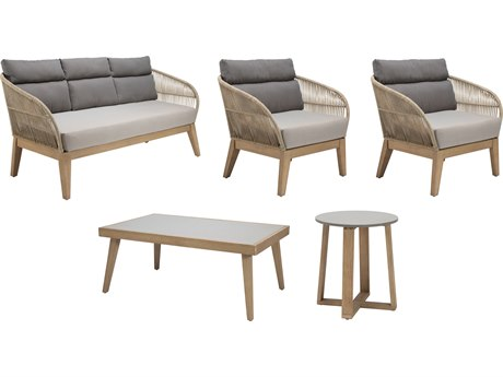 Seasonal Living Explorer Eucalyptus Wood Fuego Furniture Group Set PatioLiving
