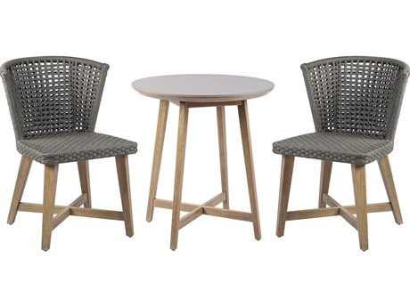 Seasonal Living Explorer Acacia Wood Pioneer Bistro Set PatioLiving