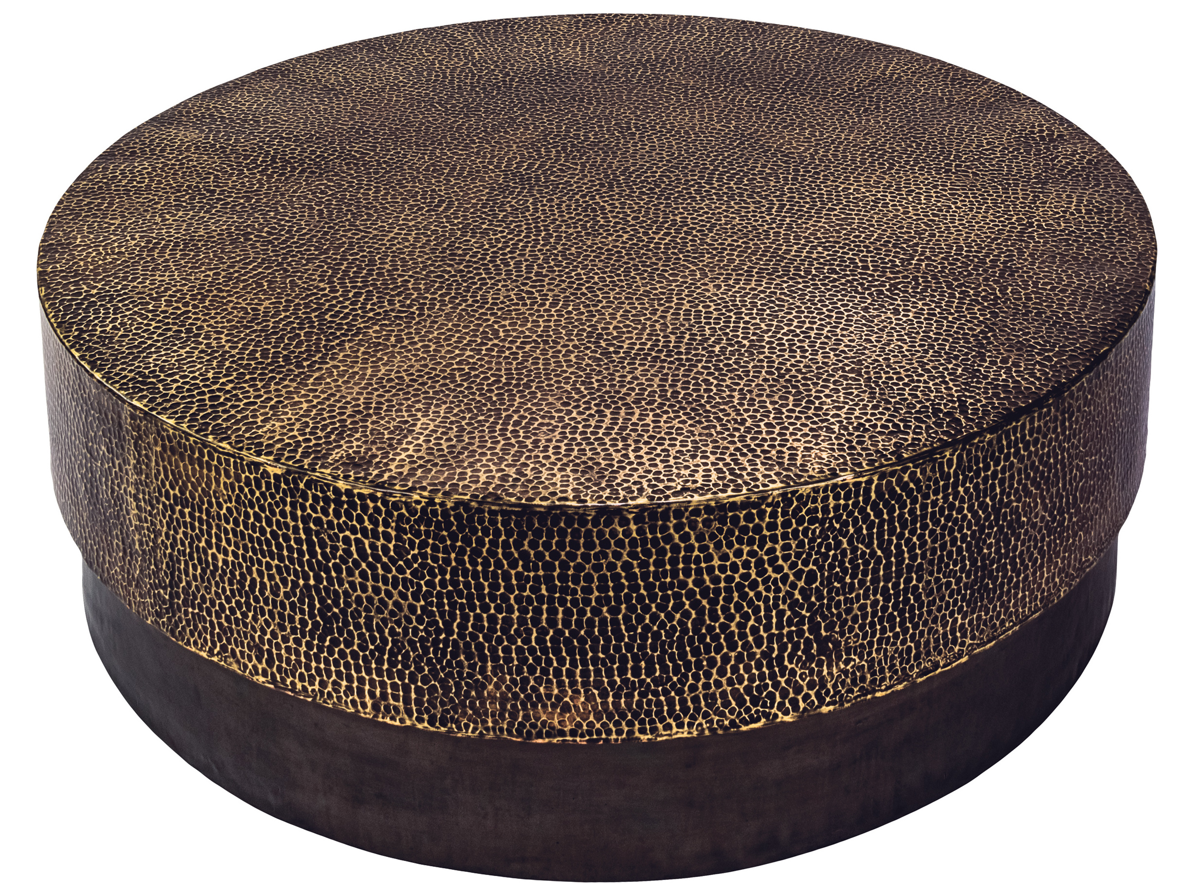 Phenomenal Seasonal Living Ingot Aged Bullion Hand Hammered Copper Hantaro 44 Wide Round Coffee Table Gamerscity Chair Design For Home Gamerscityorg