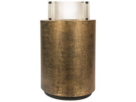 Seasonal Living Ingot Aged Bullion Hand-hammered Copper Aztec Super Bio Fuel Small Fire Pedestal
