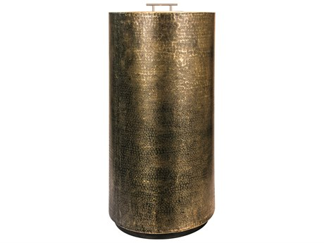 Seasonal Living Ingot Aged Bullion Hand-hammered Copper Aztec Super Bio Fuel Medium Fire Pedestal