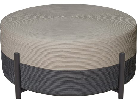 Seasonal Living Archipelago Dark Gray Steel Society Lily Pad Large Ottoman