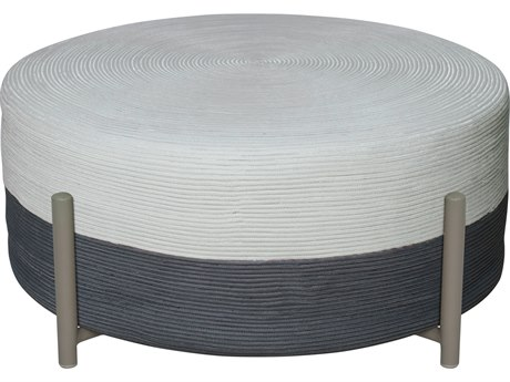 Seasonal Living Archipelago Light Gray Steel Society Lily Pad Large Ottoman