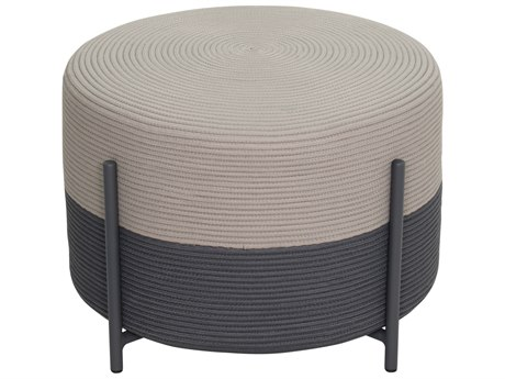 Seasonal Living Archipelago Dark Gray Steel Society Lily Pad Small Ottoman Set (Price Includes 2) SEA620FT009P2DGTP
