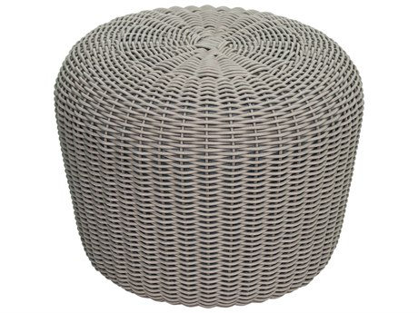 Seasonal Living Archipelago Cardamom Taupe Wicker Leeward Coco De Mer Ottoman Set (Price Includes 2) SEA620FT011P2T