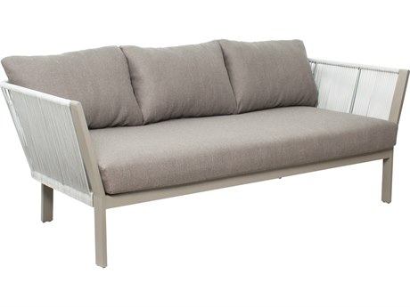 Seasonal Living Archipelago Light Gray Aluminum St. Helena Sofa