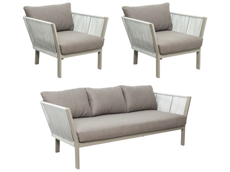 Seasonal Living Archipelago Light Gray Aluminum St. Helena Furniture Group Set (Price Includes 3) SEA620FT014P2LGDG