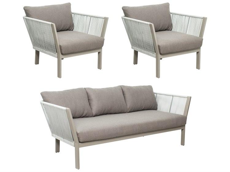 Outstanding Seasonal Living Archipelago Light Gray Aluminum St Helena Furniture Group Set Price Includes 3 Cjindustries Chair Design For Home Cjindustriesco