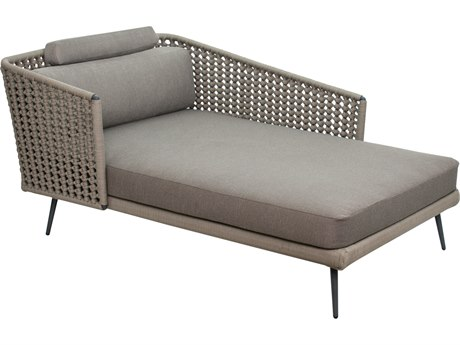 Seasonal Living Archipelago Dark Gray Aluminum Antilles Dream Left Arm Chaise Lounge