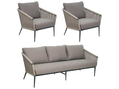 Seasonal Living Archipelago Dark Gray Aluminum Antilles Furniture Group Set (Price Includes 3) SEA620FT019P2DGTG