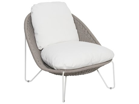 Seasonal Living Archipelago Coconut White Steel Aegean Lounge Chair SEA620FT020P2CWT