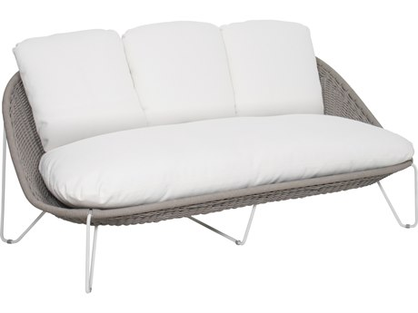 Seasonal Living Archipelago Coconut White Steel Aegean Sofa SEA620FT021P2CWT