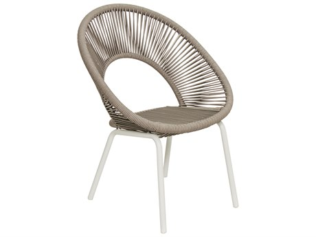 Seasonal Living Archipelago Coconut White Aluminum Ionian Dining Chair Set (Price Includes 2) SEA620FT025P2CWT