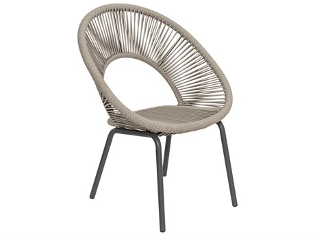 Seasonal Living Archipelago Dark Gray Aluminum Ionian Dining Chair Set (Price Includes 2) SEA620FT025P2DGT
