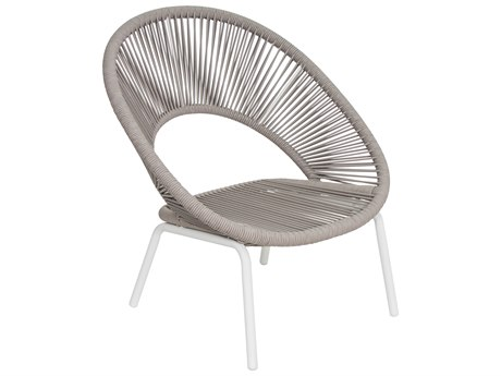 Seasonal Living Archipelago Coconut White Aluminum Ionian Lounge Chair Set (Price Includes 2) SEA620FT026P2CWT