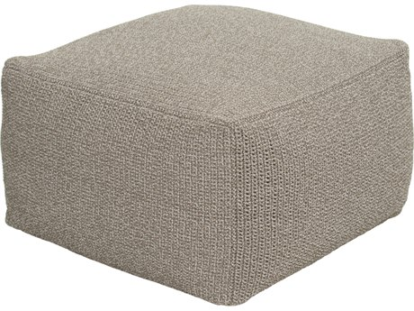 Seasonal Living Archipelago Nut Brown Aluminum Turku Square Crochet Pouf/Ottoman