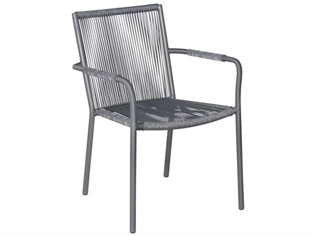 Seasonal Living Archipelago Dark Gray Aluminum Stockholm Dining Armchair Set (Price Includes 2)