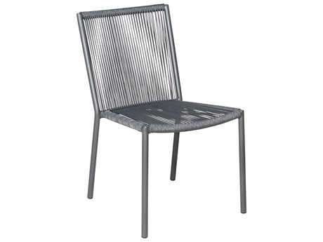 Seasonal Living Archipelago Dark Gray Aluminum Stockholm Dining Side Chair Set (Price Includes 2)