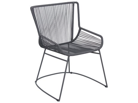 Seasonal Living Archipelago Dark Gray Aluminum Dane Dining Armchair Set (Price Includes 2)