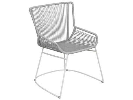Seasonal Living Archipelago Light Gray Aluminum Dane Dining Armchair Set (Price Includes 2)