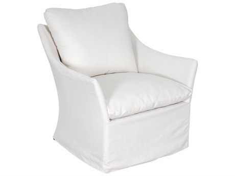 Seasonal Living Capri Aluminum Brown Beach Lounge Chair in Glacier White Slipcover