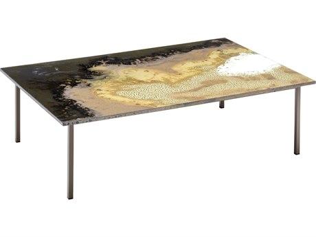 Seasonal Living Etna Mine Shaft Steel 47''W x 31.5''D Rectangular Coffee Table